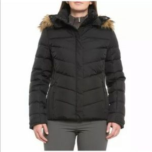 Tommy Hilfiger Faux Fur Hooded Down Puffer Jacket